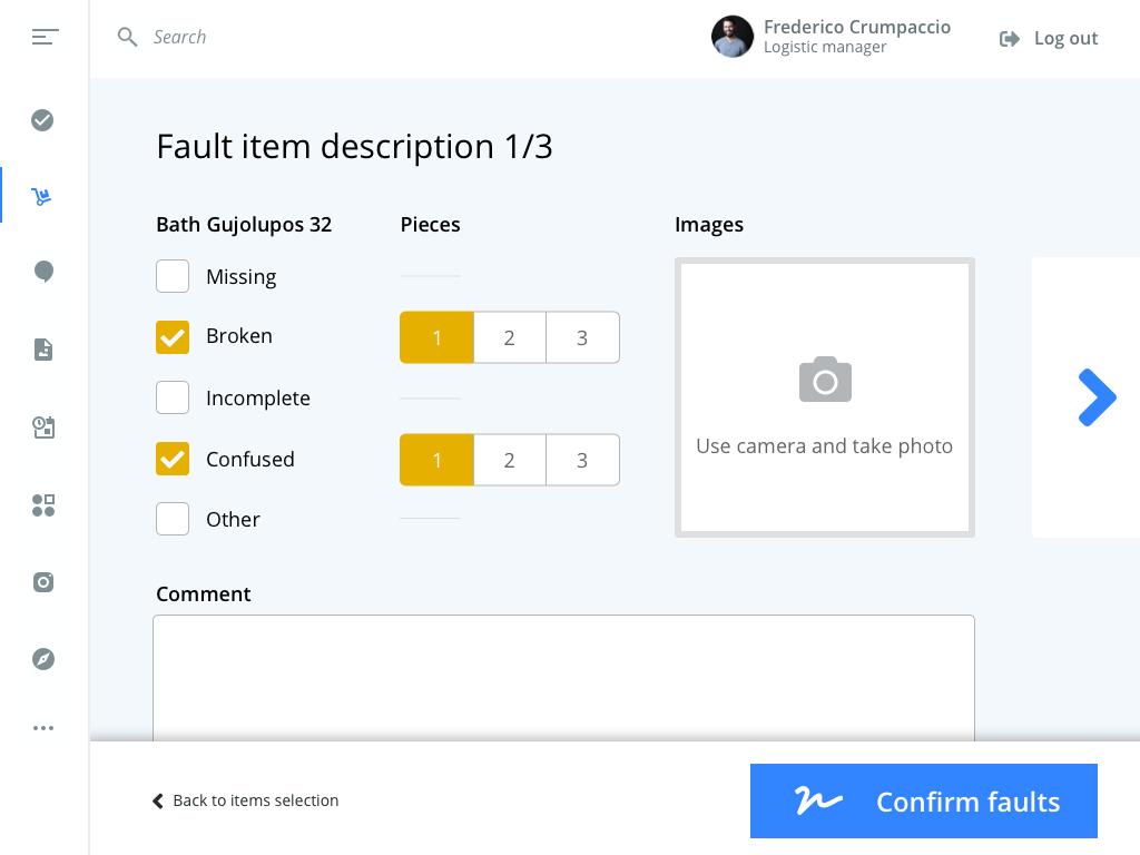 Fault item description